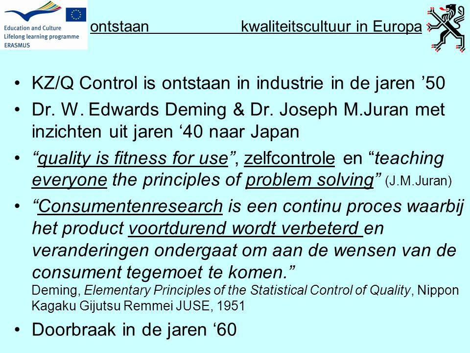 ontstaan kwaliteitscultuur in Europa