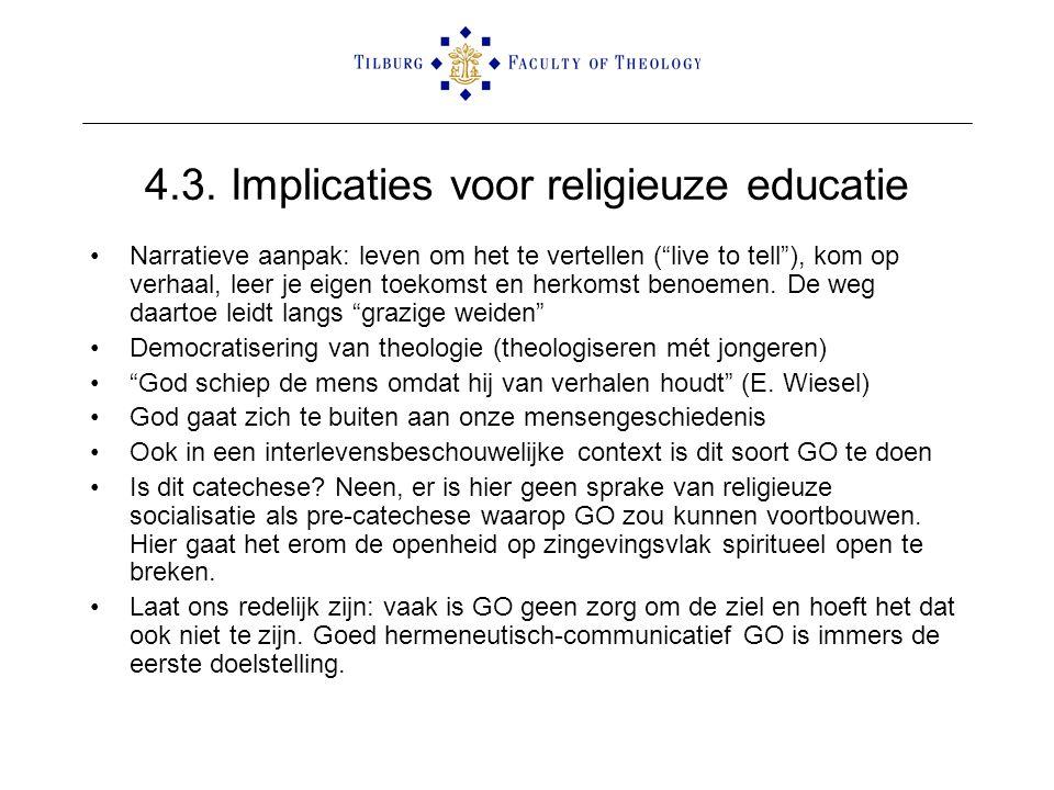 4.3. Implicaties voor religieuze educatie