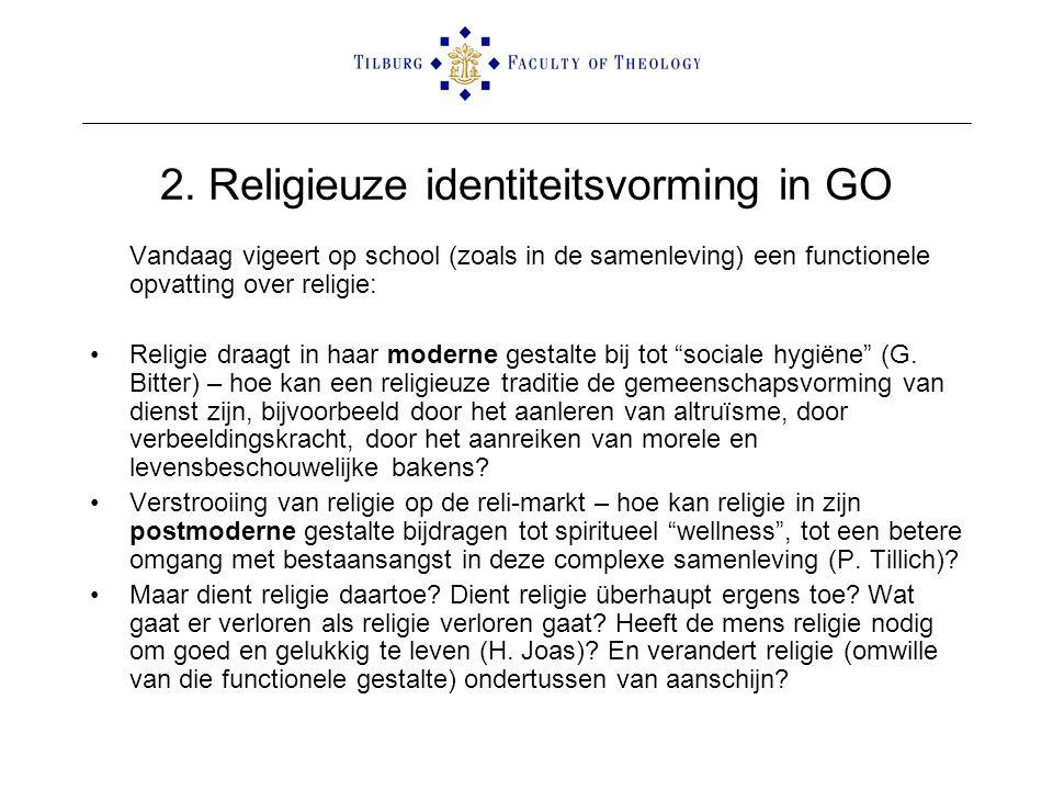 2. Religieuze identiteitsvorming in GO