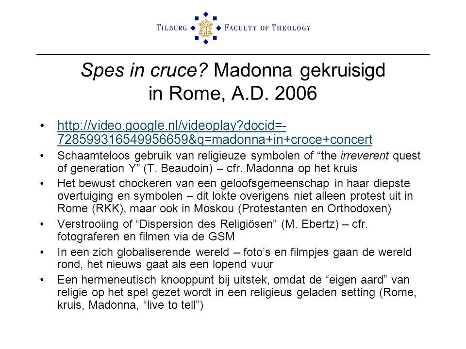 Spes in cruce Madonna gekruisigd in Rome, A.D. 2006