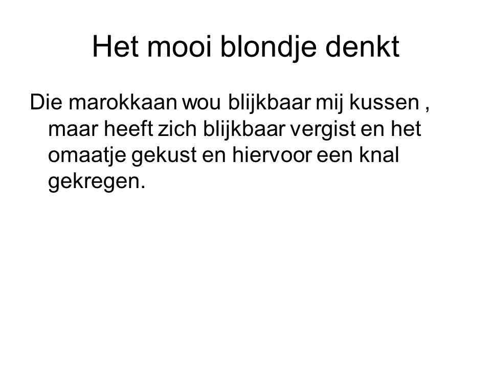 Het mooi blondje denkt