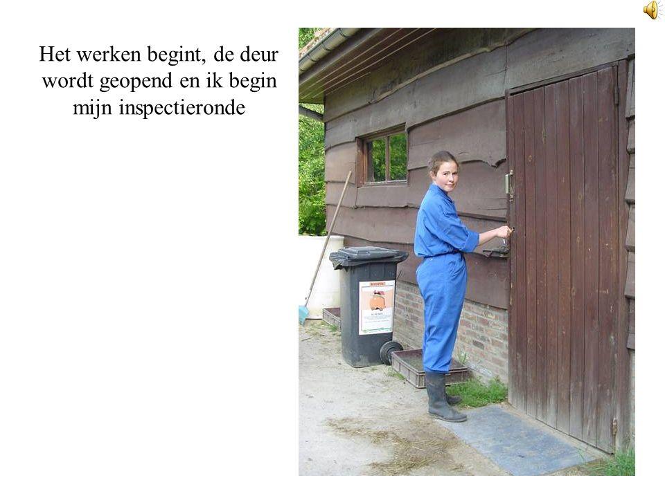 Het werken begint, de deur wordt geopend en ik begin mijn inspectieronde