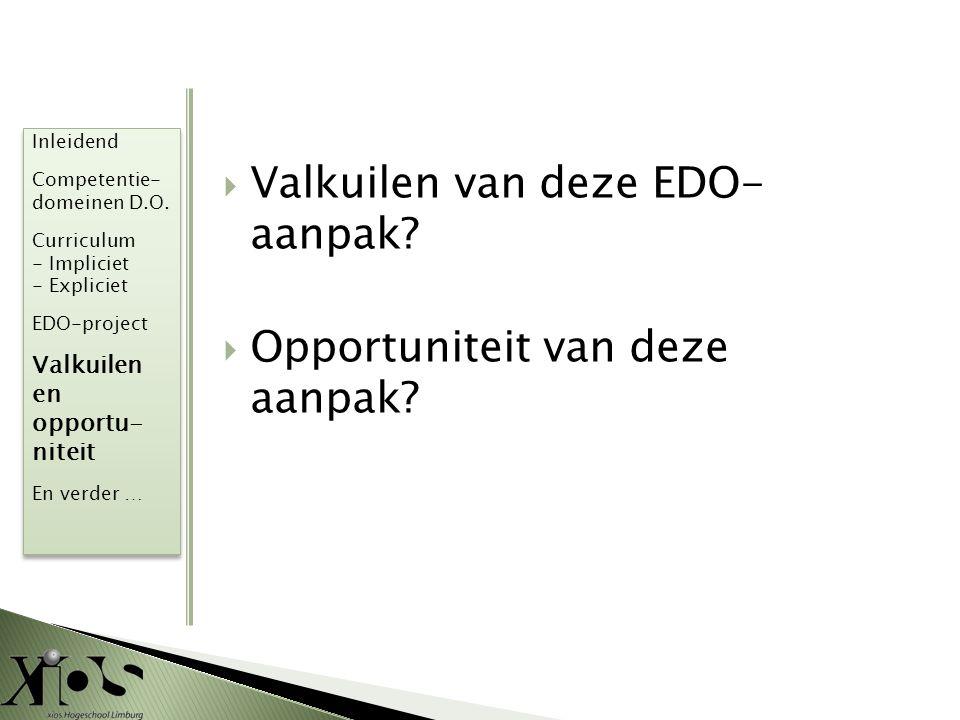 Valkuilen van deze EDO- aanpak
