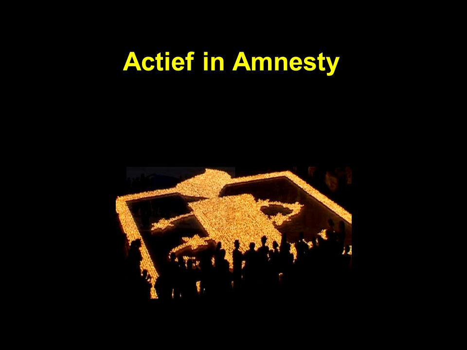 Actief in Amnesty