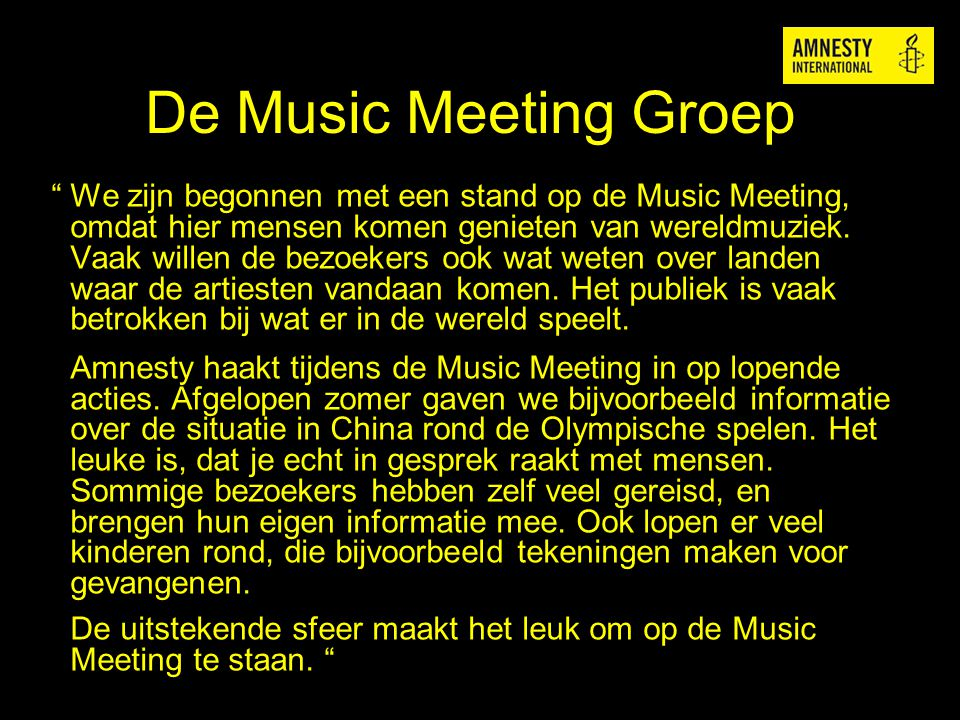 De Music Meeting Groep