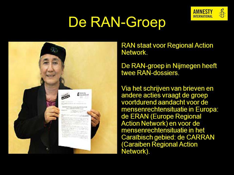 De RAN-Groep RAN staat voor Regional Action Network.
