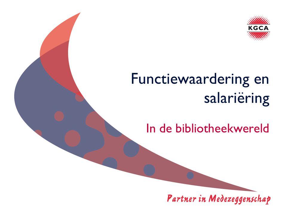 Functiewaardering en salariëring