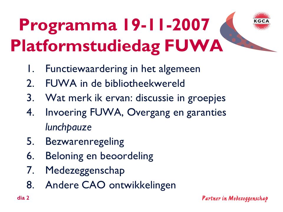 Programma 19-11-2007 Platformstudiedag FUWA