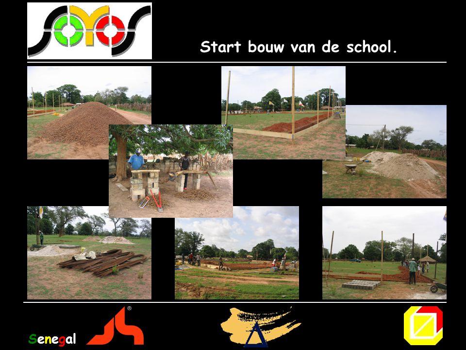Start bouw van de school.