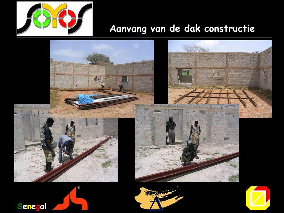 Aanvang van de dak constructie