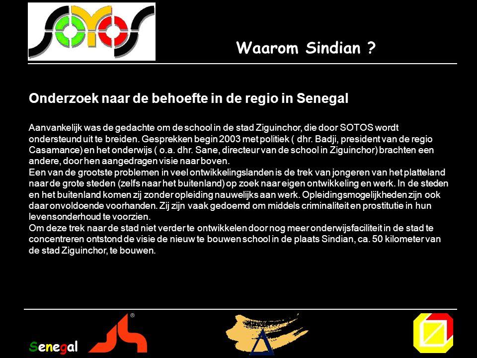 Waarom Sindian Onderzoek naar de behoefte in de regio in Senegal