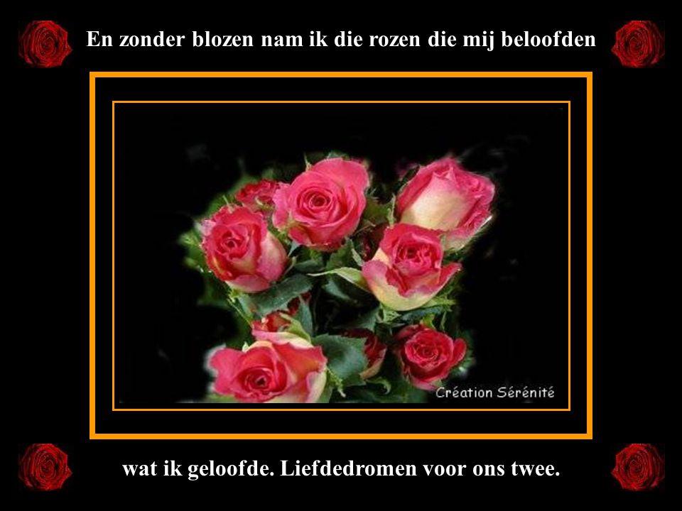 En zonder blozen nam ik die rozen die mij beloofden
