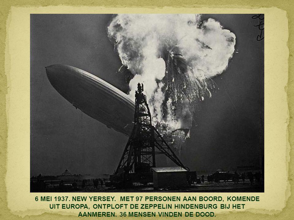 6 MEI 1937. NEW YERSEY.