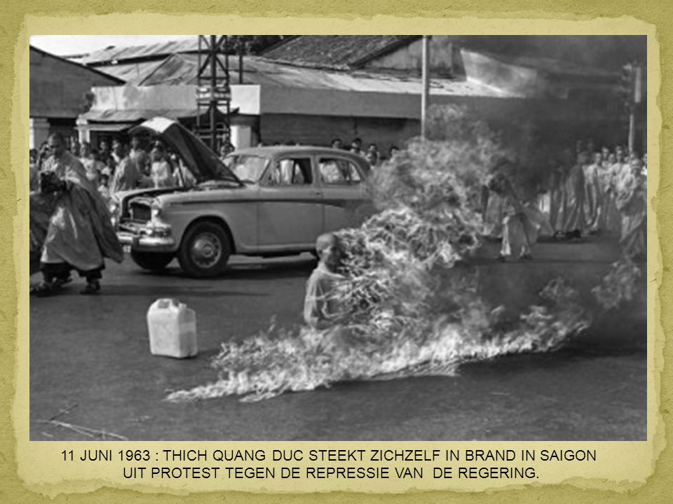 11 JUNI 1963 : THICH QUANG DUC STEEKT ZICHZELF IN BRAND IN SAIGON