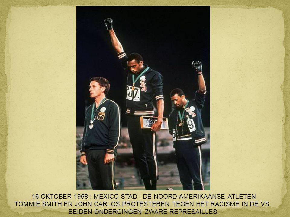 16 OKTOBER 1968 : MEXICO STAD : DE NOORD-AMERIKAANSE ATLETEN