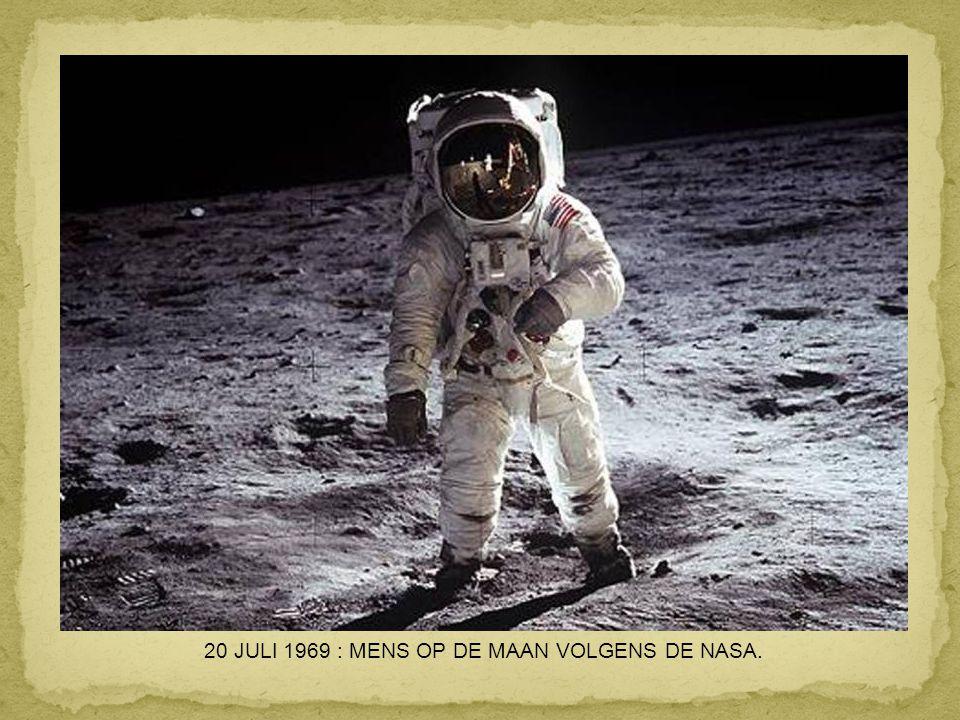 20 JULI 1969 : MENS OP DE MAAN VOLGENS DE NASA.