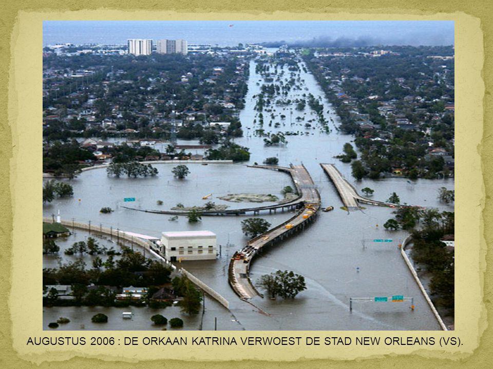 AUGUSTUS 2006 : DE ORKAAN KATRINA VERWOEST DE STAD NEW ORLEANS (VS).
