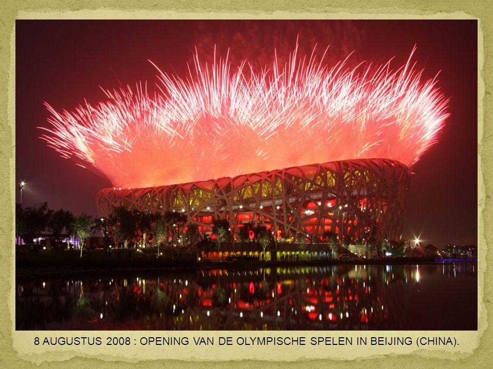 8 AUGUSTUS 2008 : OPENING VAN DE OLYMPISCHE SPELEN IN BEIJING (CHINA).