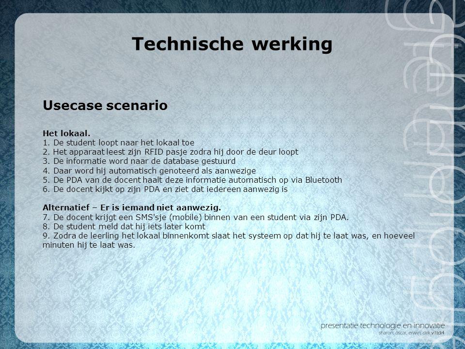 Technische werking Usecase scenario Het lokaal.