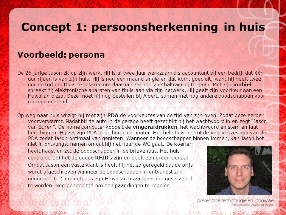 Concept 1: persoonsherkenning in huis