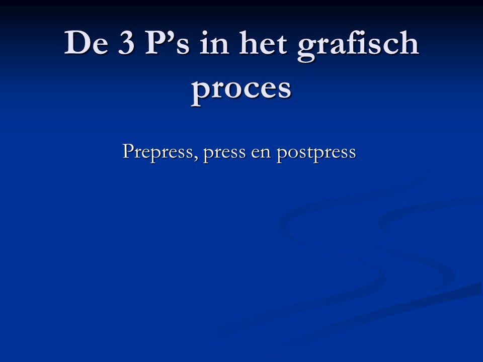 De 3 P's in het grafisch proces
