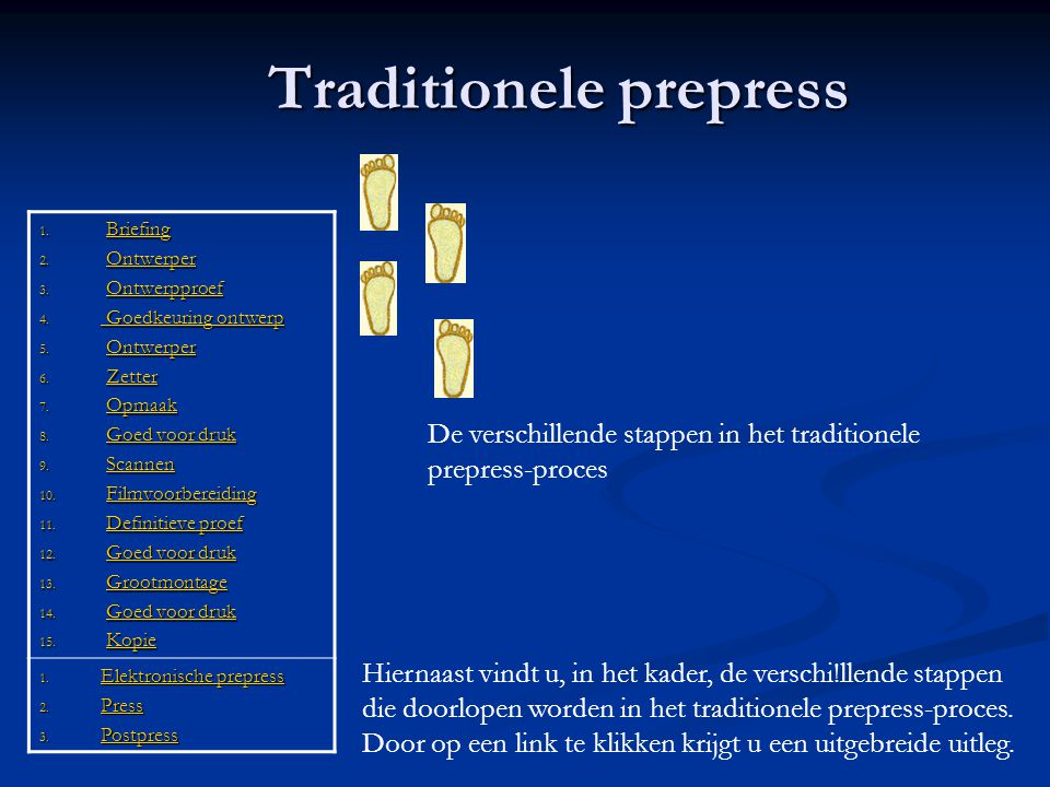 Traditionele prepress