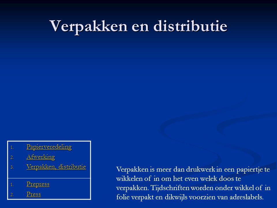Verpakken en distributie
