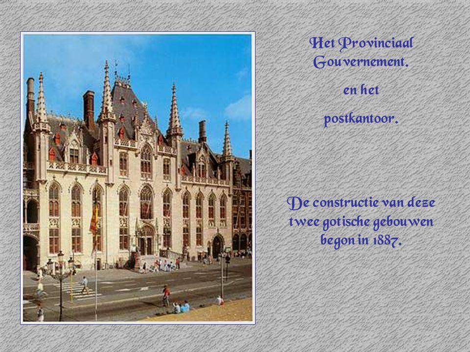 Het Provinciaal Gouvernement. en het postkantoor.
