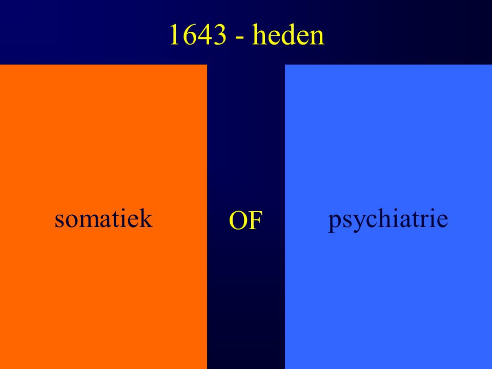 1643 - heden somatiek psychiatrie OF