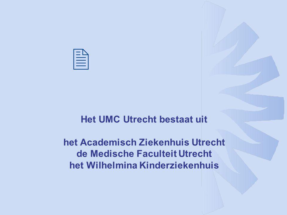 Het UMC Utrecht bestaat uit het Academisch Ziekenhuis Utrecht de Medische Faculteit Utrecht het Wilhelmina Kinderziekenhuis