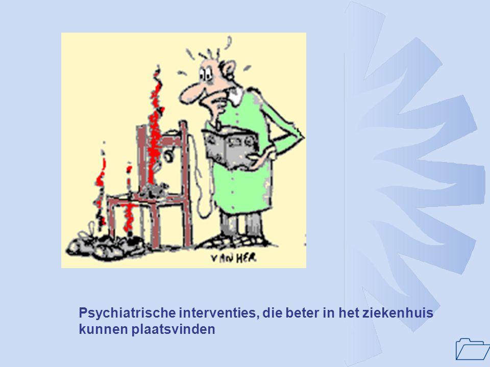 Psychiatrische interventies, die beter in het ziekenhuis