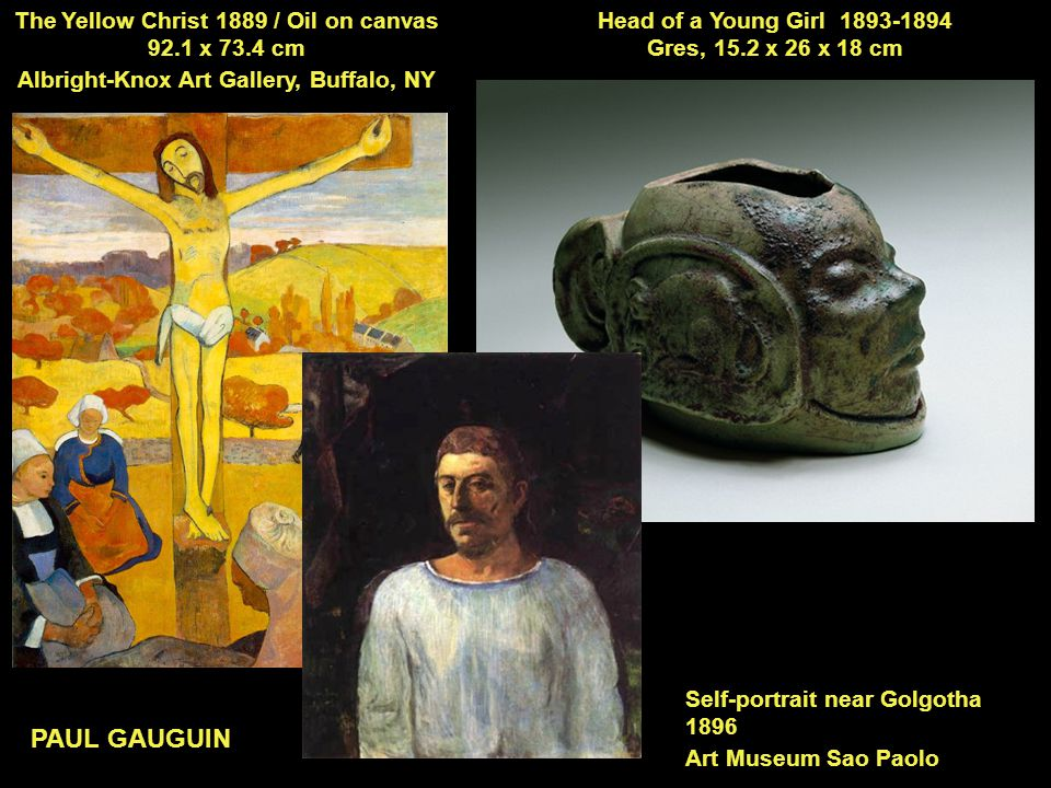 PAUL GAUGUIN The Yellow Christ 1889 / Oil on canvas 92.1 x 73.4 cm