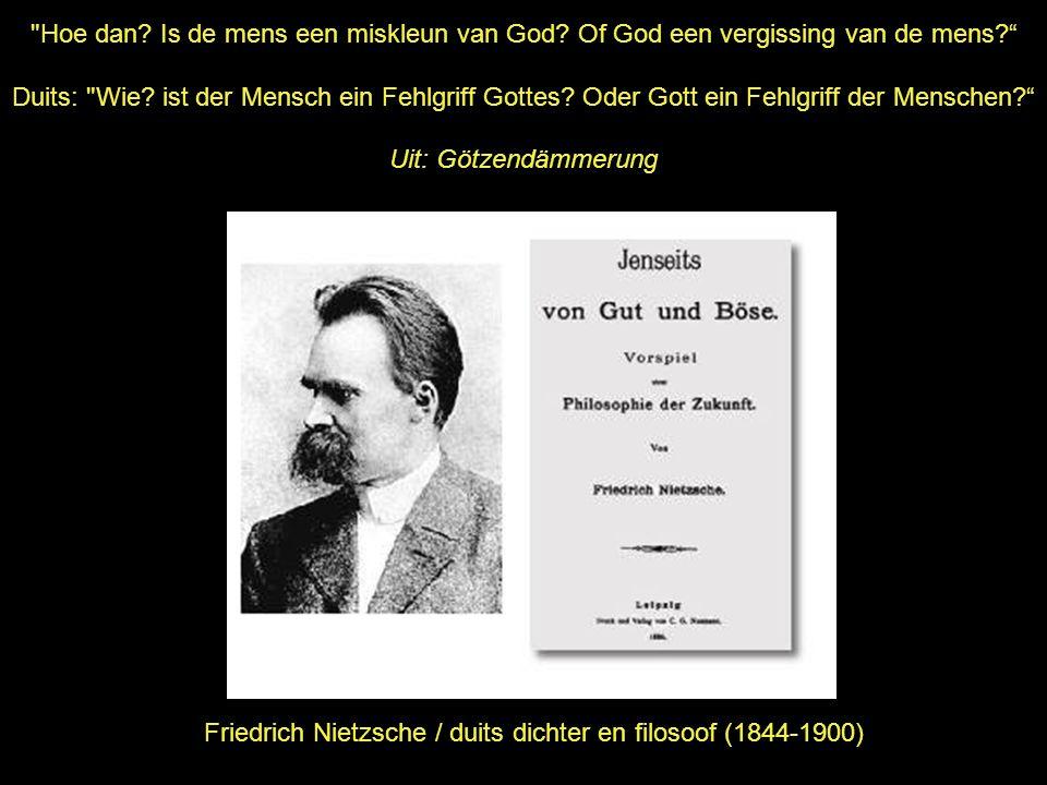 Friedrich Nietzsche / duits dichter en filosoof (1844-1900)