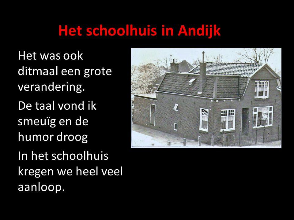 Het schoolhuis in Andijk