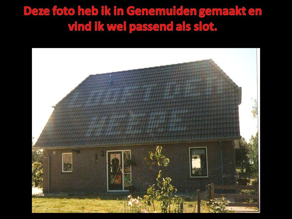 Deze foto heb ik in Genemuiden gemaakt en vind ik wel passend als slot.