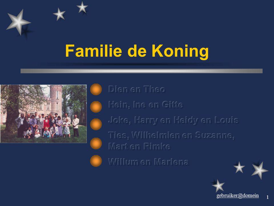 Familie de Koning Dien en Theo Hein, Ine en Gitte