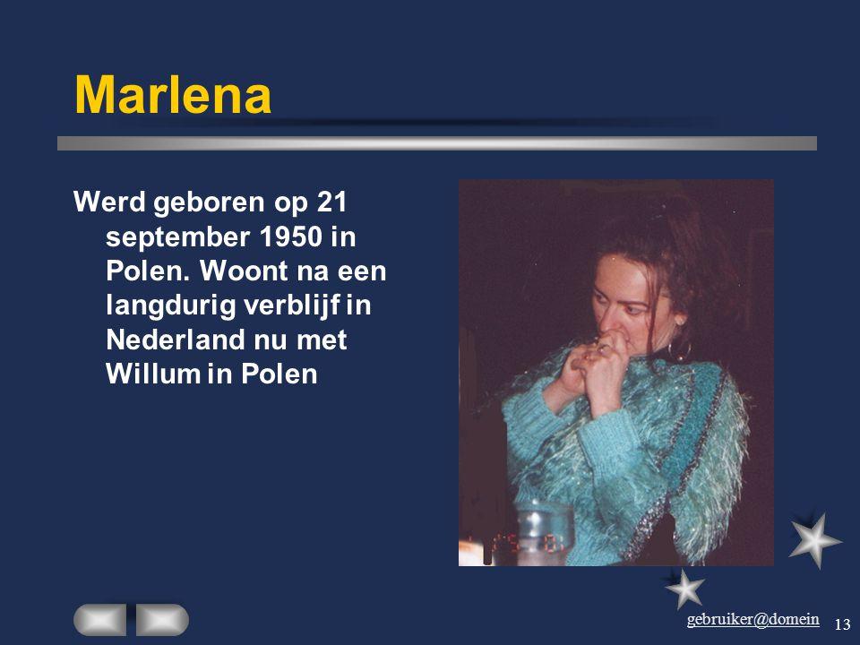 Marlena Werd geboren op 21 september 1950 in Polen.