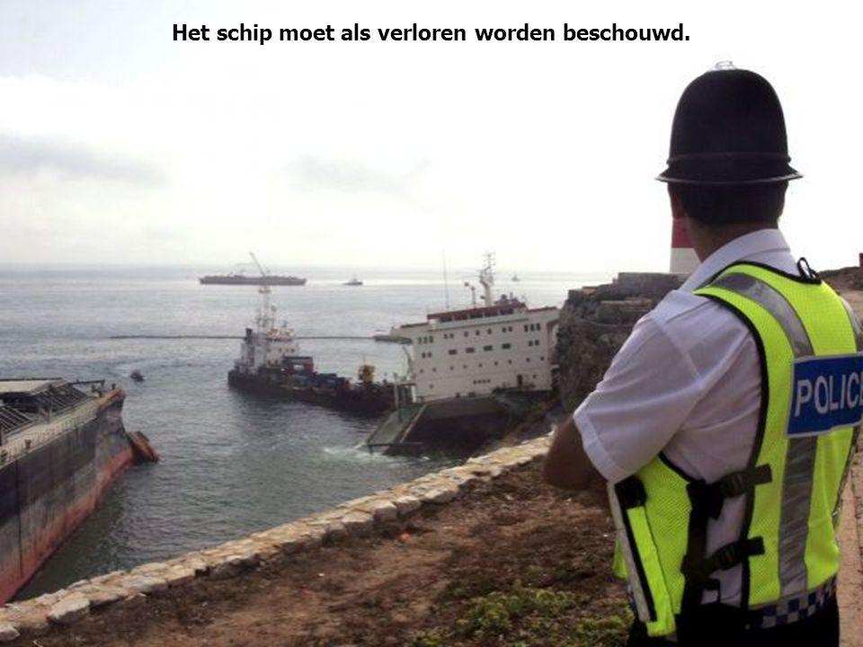 Het schip moet als verloren worden beschouwd.