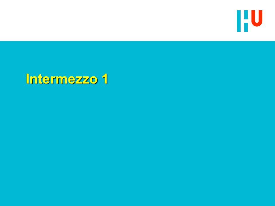 Intermezzo 1