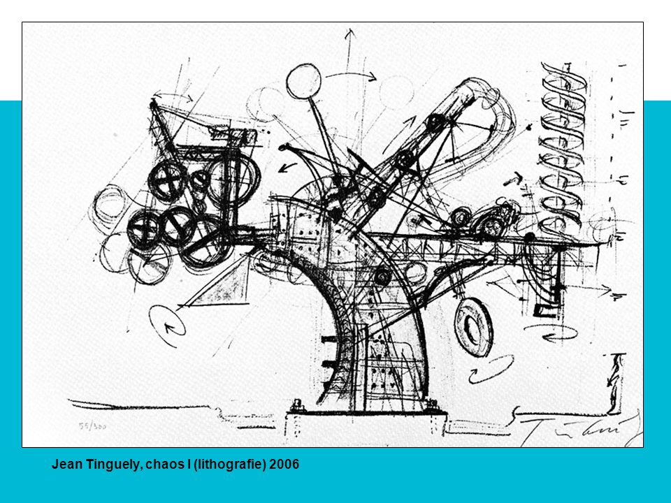 Jean Tinguely, chaos I (lithografie) 2006