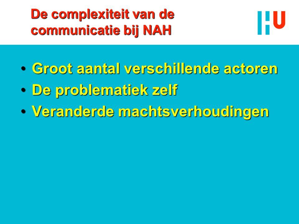 De complexiteit van de communicatie bij NAH