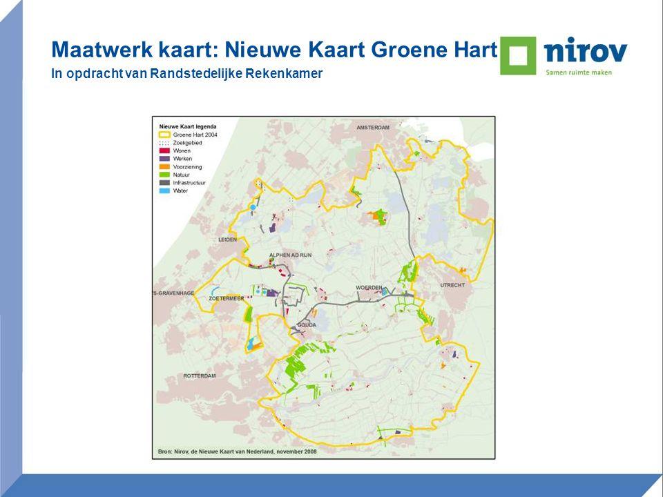 Maatwerk kaart: Nieuwe Kaart Groene Hart