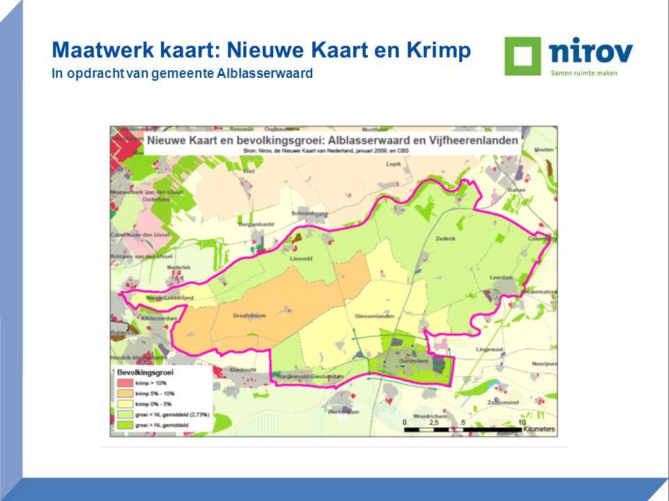 Maatwerk kaart: Nieuwe Kaart en Krimp