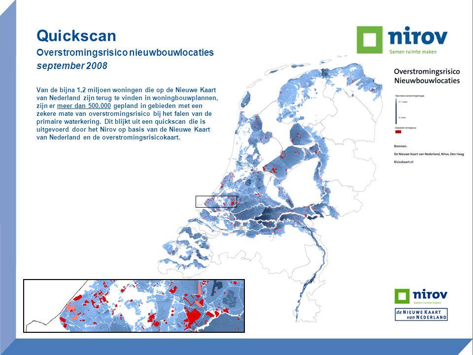Quickscan Overstromingsrisico nieuwbouwlocaties september 2008