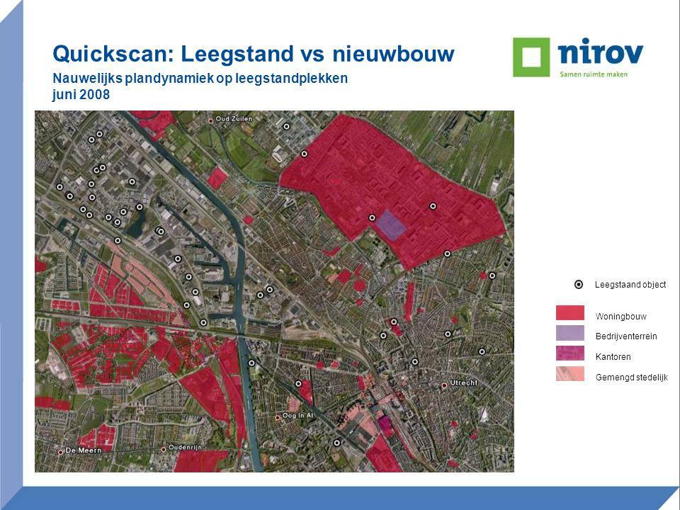 Quickscan: Leegstand vs nieuwbouw