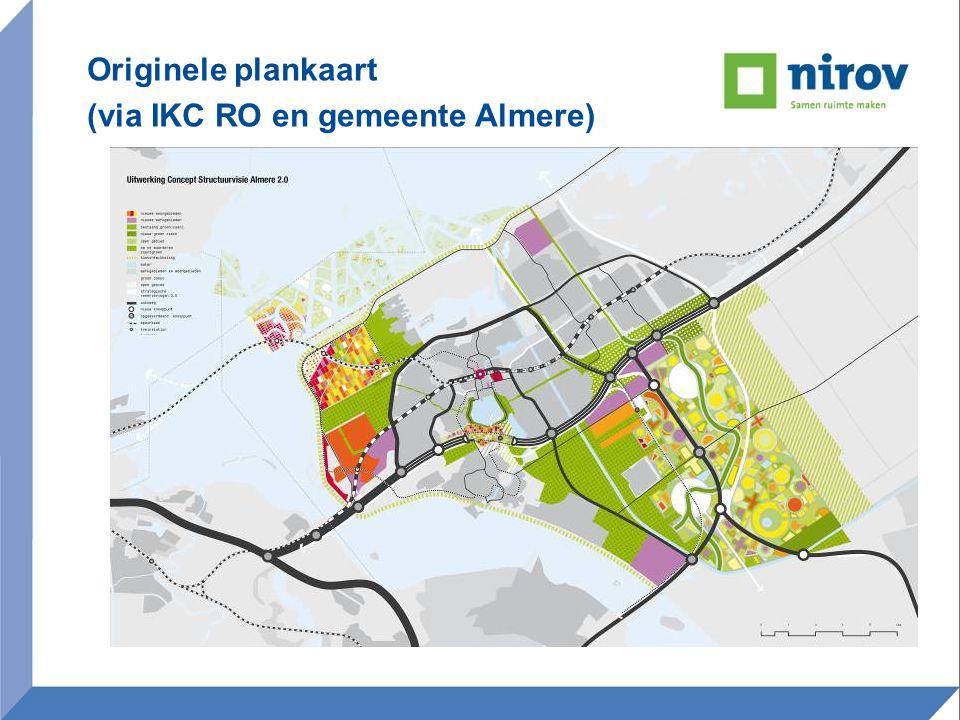Originele plankaart (via IKC RO en gemeente Almere)