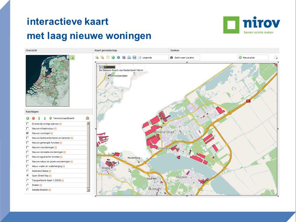 interactieve kaart met laag nieuwe woningen