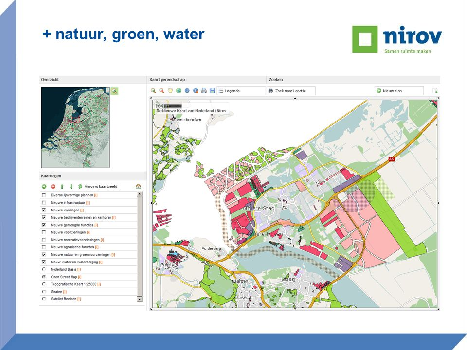 + natuur, groen, water