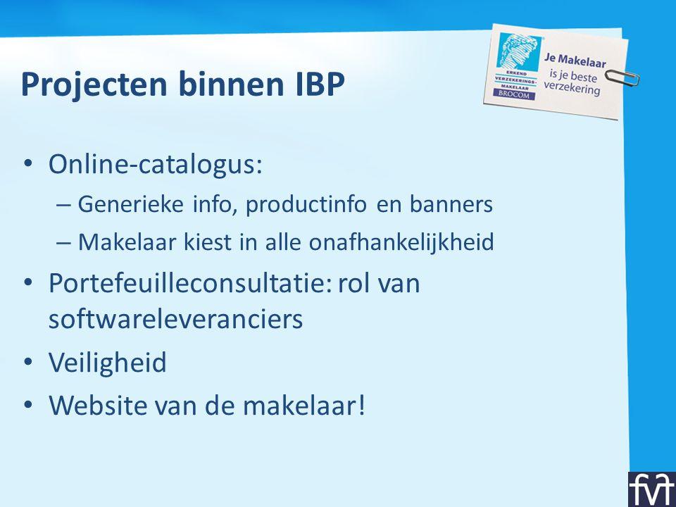 Projecten binnen IBP Online-catalogus: