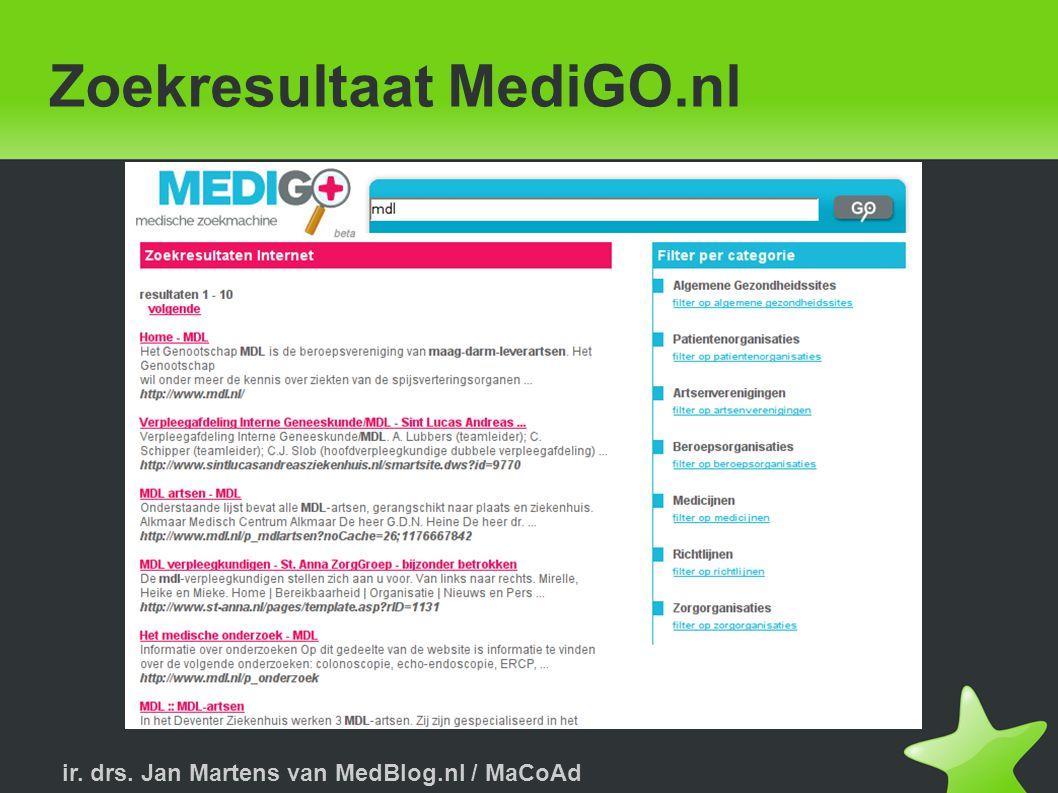 Zoekresultaat MediGO.nl